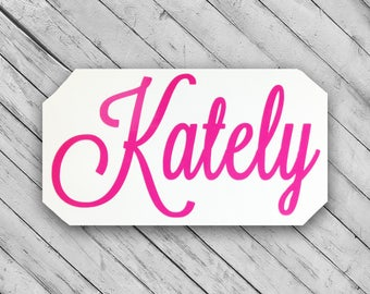 water bottle name decal ~ personalized vinyl decal ~ monogram name sticker ~ custom made to order