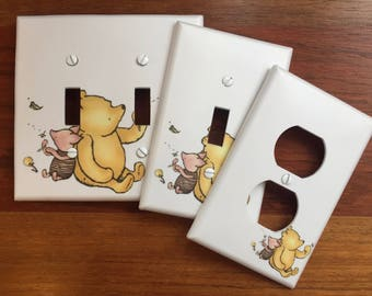 Winnie Pooh Plates Etsy
