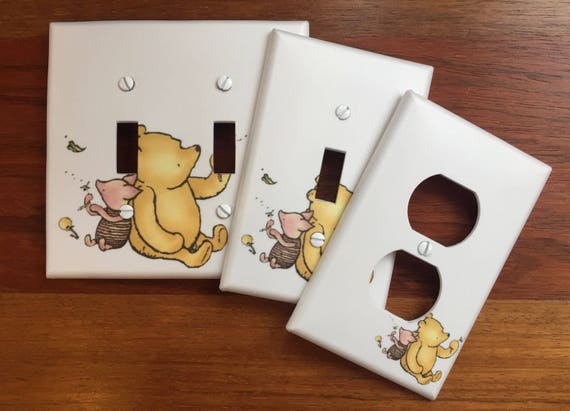 Classic winnie the pooh light switch plate cover piglet like this item negle Image collections
