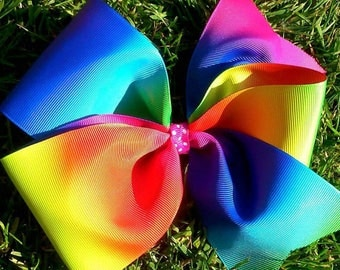 super large rainbow bow