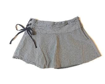Vintage Black and White Checkard Mini Skirt