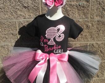 I'M A Barbie Girl Tutu -Personalized Birthday Tutu,Sizes 6m - 14/16