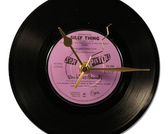 "SEX PISTOLS ""Who Killed Bambi"" Vinyl clock 45tours"