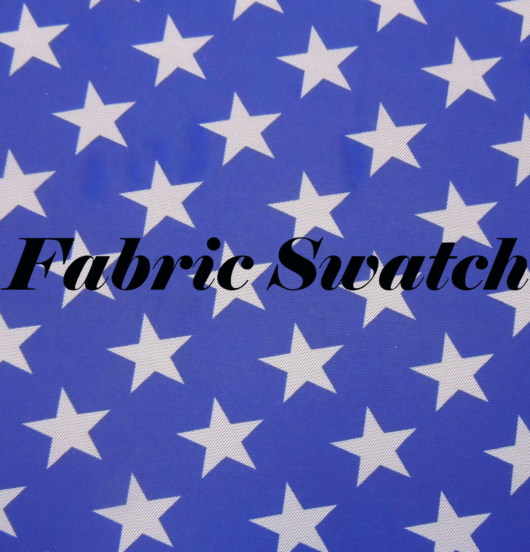 Fabric swatch stars star print fabric blue and white star for Star fabric australia