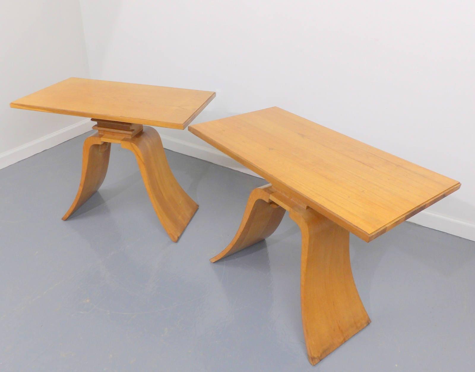 Paul Frankl for Brown Saltman Art Deco Solid Mahogany Bent