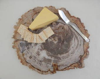 Large Cheese Board Platter made of Natural Fossilized Stone