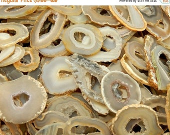 10% off July 4th Agate Slice -Occo Geode Agate Slices Highest Special A Quality - Geode Slices - Buy 1, 5, 10, 25, or 50 Wire Wrapping   (RK