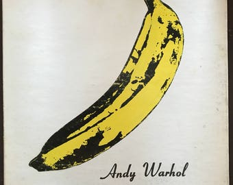 Vintage Record The Velvet Underground & Nico vintage original LP record 1960s Rare Andy Warhol concept unpeeled banana 1968 first printing