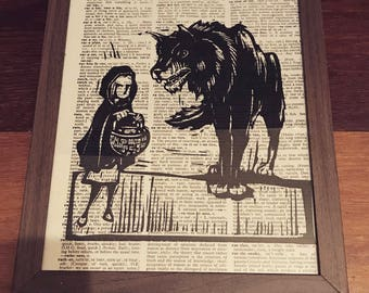 Little Red Riding Hood Vintage Frame