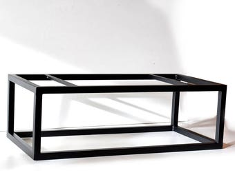 Coffee Table Base. Full box frame. Black Powder coated. Steel Dining table  legs