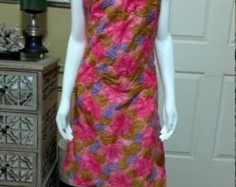 Vintage 1960 Shift Dress /Garden Party/Tea Party /Floral Print Dress/ S/M