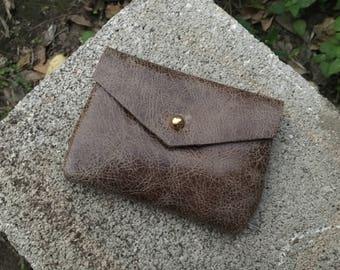 CARD WALLET Crackle Olive • Business Card Holder • Credit Card Case