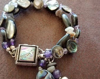 Abalone, and shell bracelet