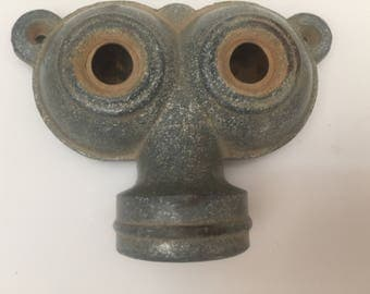 Vintage Thompson 70 Twin Owl Eyes Galvanized Sprinkle Head