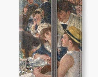 iPhone 7 case, iPhone 6s flip wallet case, iPhone SE case, iPhone 6s plus wallet case, iPhone 5s case - Luncheon of the Boating Party Renoir