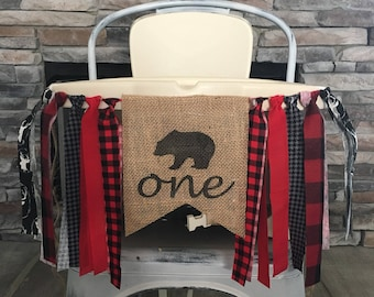 Lumberjack First Birthday, Lumberjack Highchair Banner, Lumberjack Party, Lumberjack Burlap Banner, Lumberjack Theme, Deer Head Banner