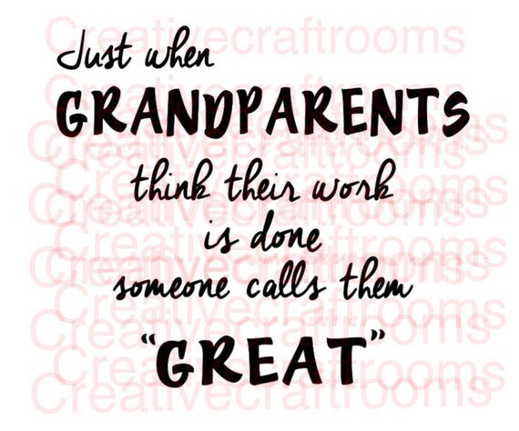 Grandparents png, Great Grandparents, Great Grandparents Png, Cricut png, Design space, Print and Cut File