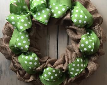 Front door wreath/spring wreath/ burlap wreath/ Easter wreath/ wreath
