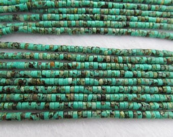 2strands 4x2mm African Turquoise Gemstone heishi Slice Rondelle Loose beads Turquoise Beads