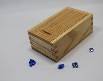 Sliding Lid Box, Oak Sliding Lid Box, Box with Sliding Top, Sliding Top Wooden Box, Oak Sliding Top Box, Oak Box, Keepsake Box,  (st51106A)