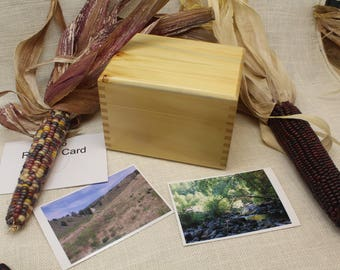 Wood Recipe Box, Photo Box, Recipe Box 4 x 6, 4 x 6 Photo Box, Yellow Recipe Box, Wooden Recipe Box, Recipe Box, Photo Box,   (rc51126S)