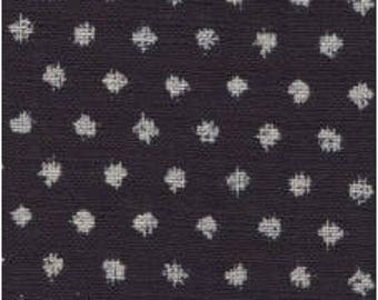 Fabric - Sevenberry indigo splodge spot print - medium weight woven cotton