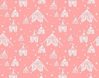 Fabric -Blend Fabrics - Calliope collection - pink big top - medium weight woven cotton fabric.