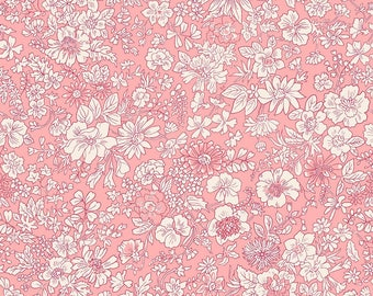 Fabric -Liberty  - The English Garden - Emily silhouette, pink - Quilters weight cotton