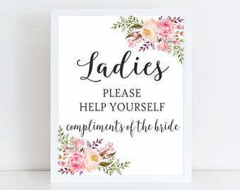 Bathroom Basket Signs For Weddings bathroom basket sign | etsy
