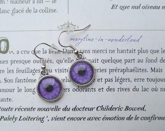 purple eyes eye Cabochon earrings