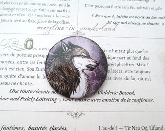 badge brooch lovely Wolf