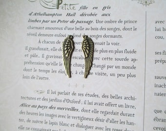Package includes 2 pair of angel wing charm