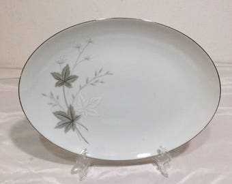 Fashion Manor Fine China Japan SUZANNE Oval Serving Platter 1960's JC Penny