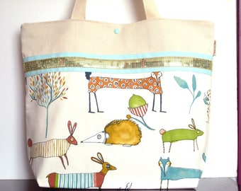 Animal cotton canvas tote