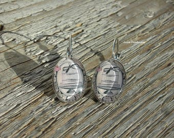 """""""Bird Cage"""" earrings - oval Cabochon 15 x 20 mm"""