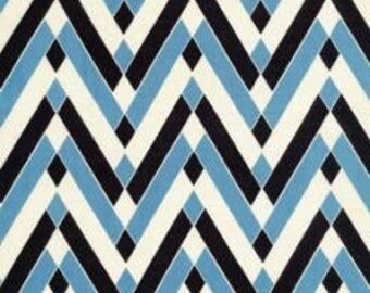 SALE Diamond Chevron in Blueberry Voile by Denyse Schmidt HY