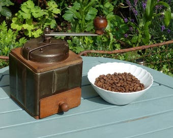 Vintage French Coffee Grinder - Peugeot Freres - Art Deco Coffee Grinder - Industrial Coffee Grinder - Moulin à Café - French Kitchen