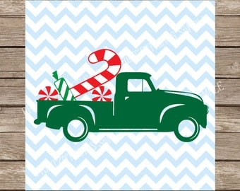 Christmas svg, Candy Cane svg, Christmas Truck svg, Christmas svg, Christmas Candy svg, Vintage svg, Peppermint svg, svg files for cricut