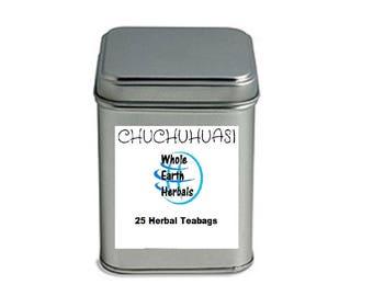 CHUCHUHUASI Tea Bags Tea Bags in Decorative Tea Tin  Muscle Relaxant & Pain Relief
