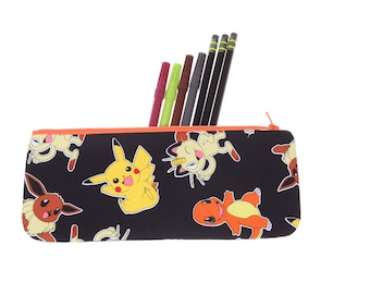 CLEARANCE Pokemon pencil case, pencil pouch, Pokemon pencil holder, school supply
