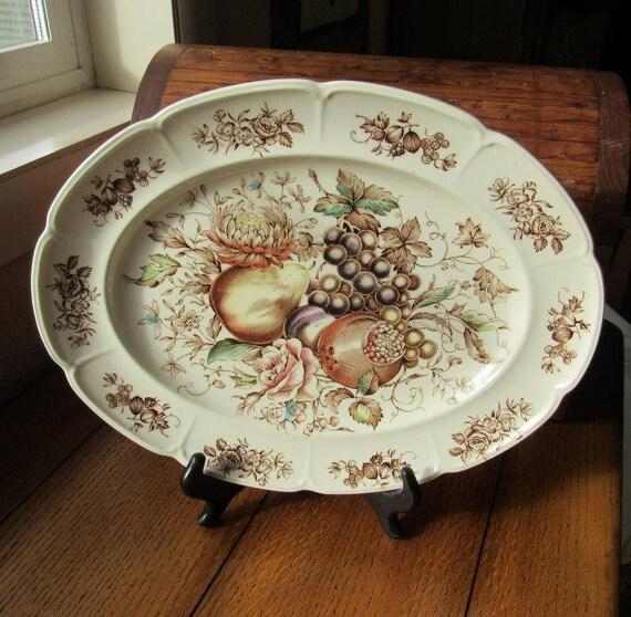 Windsor Fruit Platter Johnson Bros Pattern