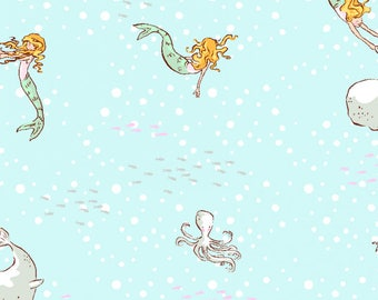 Best of Sarah Jane - Mermaid Play in Soft - Sarah Jane - Michael Miller (DC5630-SOFT-D)