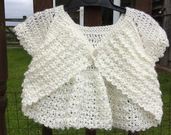 Bridesmaid Bolero. Crochet Toddler Shrug