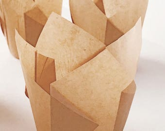 50 ct. Tulip Baking Cupcake Liners Natural Paper Muffin Cups