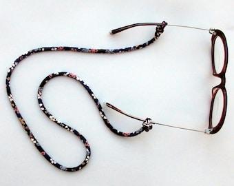 Japanese Fabric Eyeglasses Holder (Purple),  Lanyard for Eyeglasses, Chirimen