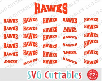 Hawks EZ Layouts, svg, eps, dxf, Set of 30, Digital Cut File for cutting machines