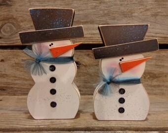 Winter Decor-Snow Decor-Snowman Decor- Chunky snowman set