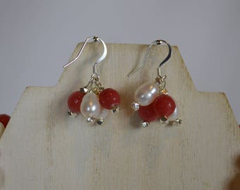 Jade & Pearl Earrings