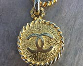 Vintage Chanel Belt size Small, Gold, can be worn as necklace, 1980's, edc, rave, raver, collector , boho chic, chic, collectible