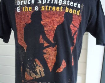 Size L (44) ** 1990s Bruce Springsteen Concert Shirt (Double Sided)